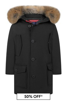 Boys Navy Down Padded Coat