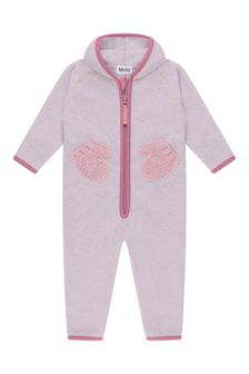 Molo Baby Girls Pink Fleece & Soft Shell Coverall