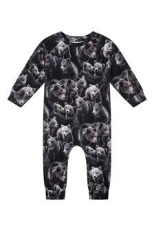 Baby Boys Organic Cotton Bears Romper