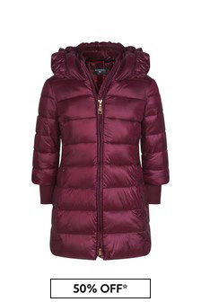 Girls Burgundy Down Padded Coat