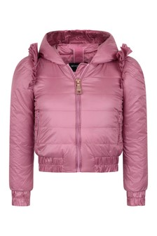 Monnalisa Girls Pink Down Padded Jacket