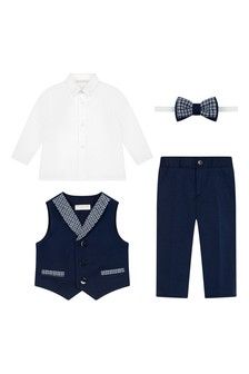 Boys Ivory Cotton Suit Set