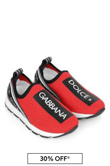 Dolce & Gabbana Kids Kids Red Logo Trainers