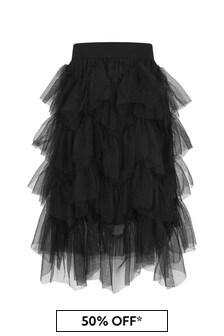 Girls Black Ruffle Tulle Skirt