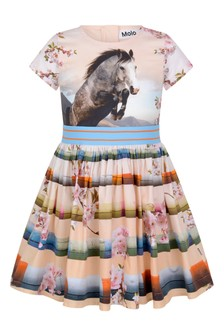 Girls Jumping Horse Organic Cotton Dress