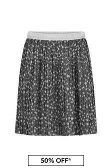 Girls Glitter Stars Pleated Skirt
