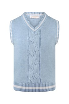Boys Blue Wool Slipover Top