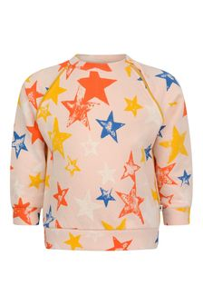 Baby Girls Pink Organic Cotton Star Sweater