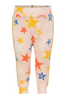 Molo Baby Girls Pink Organic Cotton Star Joggers