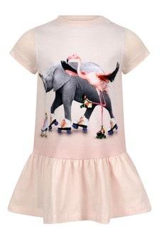 Baby Girls Pink Organic Cotton Rolling Friends Dress