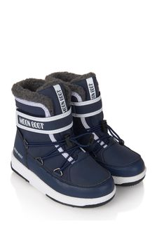 Moon Boot Boys Navy Waterproof Snow Boots