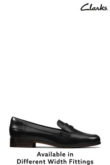Clarks Black Leather Hamble Loafer Shoes