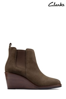Clarks Dark Olive Sde Clarkdale 2 Top Boots