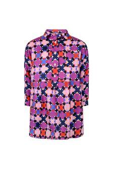 Girls Purple/Pink Patterned Dress