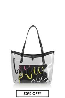 Emilio Pucci Girls Transparent & Black Logo 2-In-1 Bag