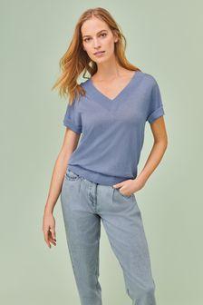 Sparkle V-Neck T-Shirt