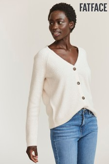 FatFace Natural Heather Marled Cardigan