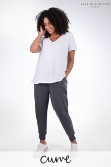 Live Unlimited Curve Grey Cotton Joggers
