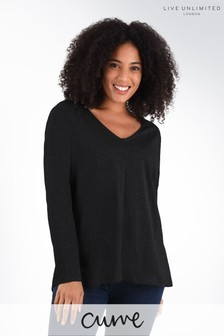 Live Unlimited Curve Black Long Sleeve Swing T-Shirt