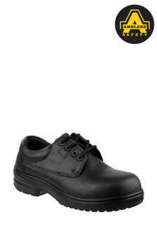 Ambers Safety Black Metal Free Lace-Up Safety Shoes