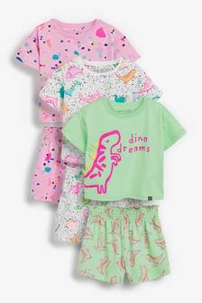 3 Pack Dinosaur Pyjamas With 3D Spikes (9mths-8yrs)