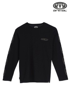 Animal Black Boardwalk Long Sleeve Graphic T-Shirt