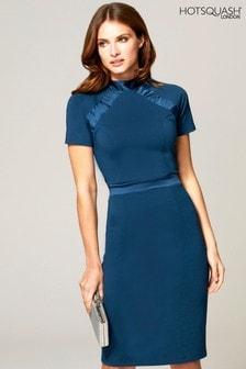 HotSquash Blue Turtle Neck Dress