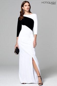 HotSquash White Maxi Dress With Contrast Sash