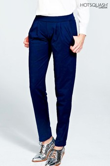 HotSquash Blue Slouch Glam Trousers