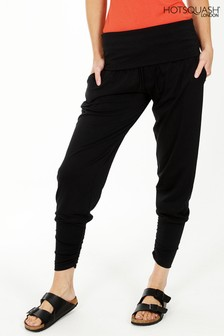 HotSquash Black Roll Top Harem Trousers