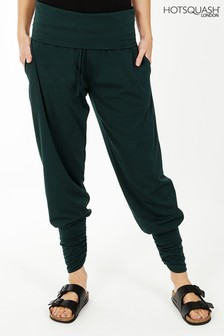 HotSquash Green Roll Top Harem Trousers
