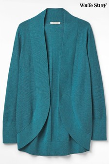 White Stuff Teal Infusion Knitted Cardigan