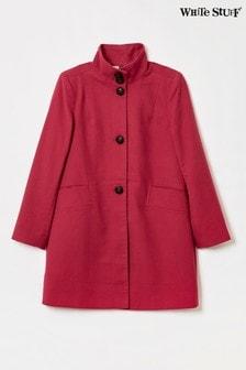 White Stuff Red Kenley Moleskin Twill Coat
