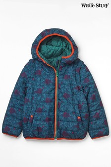White Stuff Blue Kids Gorilla 4-In-1 Reversible Padded Jacket