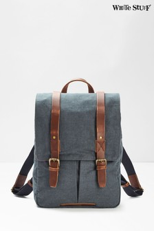 White Stuff Blue Scout Organic Cotton Rucksack