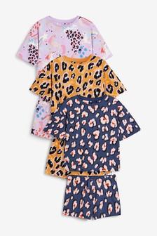 3 Pack Animal/Unicorn Short Cotton Pyjamas (3-16yrs)