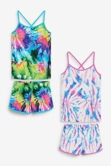 2 Pack Cami Top Short Pyjamas (3-16yrs)