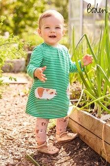 Boden Green Jersey Appliqué Dress