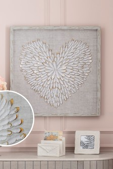 Angel Wing Heart Framed Art