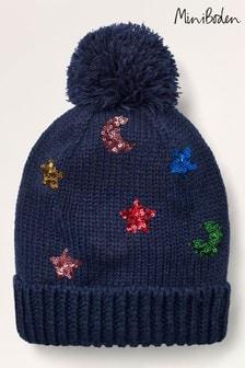 Boden Blue Sparkle Hat