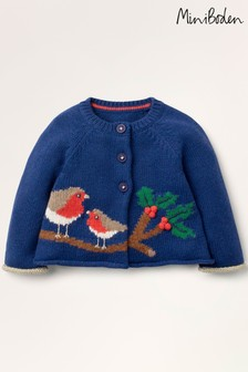 Boden Blue Robin Knitted Cardigan