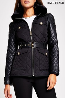 River Island Black Lightweight Padded Jacket