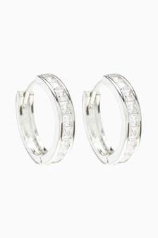 Pavé Hinge Hoop Earrings