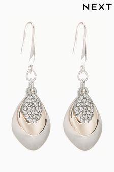 Pavé Petal Drop Earrings