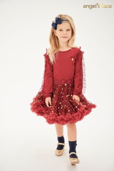 Angel's Face Tibetan Red Tutu Skirt