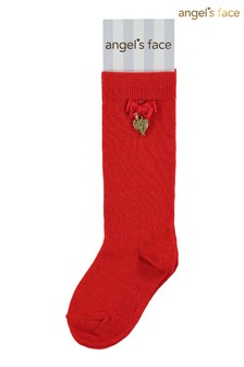 Angels Face Red Socks