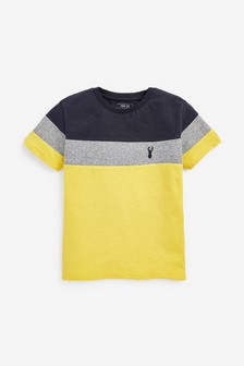 Textured Colourblock T-Shirt (3-16yrs)