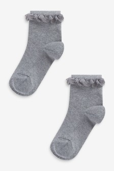 2 Pack Ruffle Ankle Socks