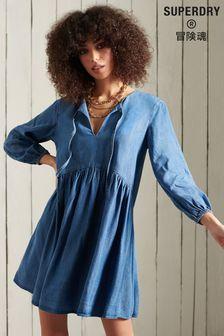 Superdry Long Sleeve TENCEL™ Dress