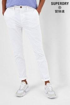 Superdry White Slim Chinos